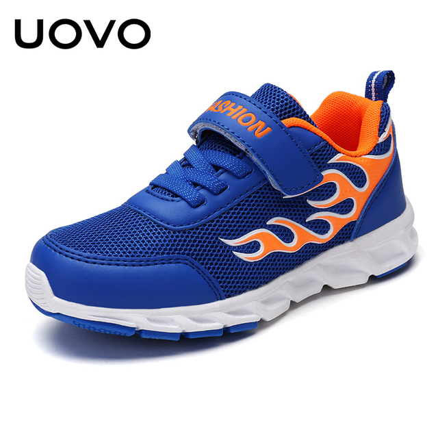 UOVO 2019 Kids Running Shoes For Boys Breathable Sport Sneakers Shoes Size 30#-40#