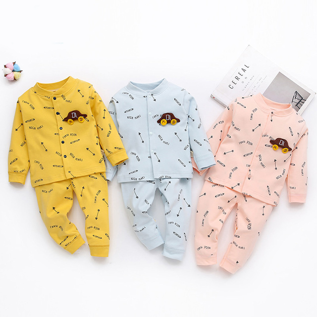 5022e253e23 2PCS Baby Girl Clothes Autumn Winter Baby Kids Toddler Boys Girls Cotton  Letter Print Top + Pants Clothes Long Sleepwear Set