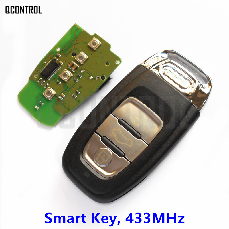 QCONTROL Vehicle Smart Key fit for Audi A4/S4/A5/S5/Q5 year 2007 - 2016 433MHz with PCF7945 Chip Keyless Entry remtekey smart car remote key for audi a4 a5 a6 s4 s5 q5 sq5 8t0 959 754c 868mhz 8t0959754c 2007 2008 2009 2010 2011 2012 2013