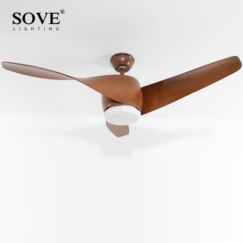 SOVE Brown Vintage Առաստաղի երկրպագու - Ներքին լուսավորություն - Լուսանկար 2