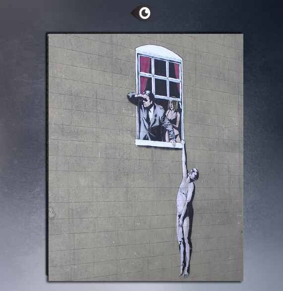 Free Shipping Large Canvas Wall Art Home Goods Best Gift Banksy