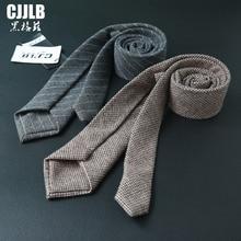 New Arrival Lote High Quality Woven 100% Pure Wool Tie Men 7cm Slim Skinny Narrow Corbata Striped Plaid Necktie Cashmere Gravata