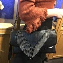 8a67517cc Hand bag large capacity female new tassel handbag fashion envelope bag tide  female hand grab bag