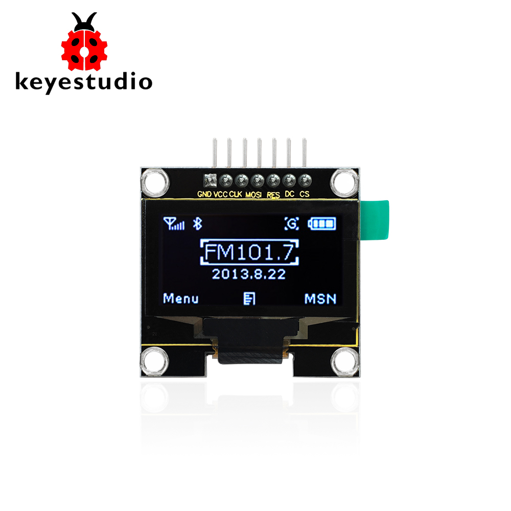 Keyestudio IIC SPI 1.3 128x64 OLED V2.0 Graphic Display Module for Arduino UNO R3