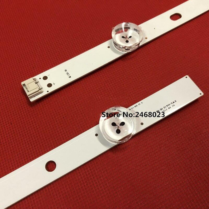 4 piezas 630mm 7 LED retroiluminación LED lámparas tiras para LG 32