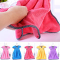 Cute Dress Shape Super Soft Absorbent Microfiber Hanging Kitchen Towel Cleaning Cloth 29x37cm U0916