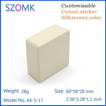 50 psc a lot shenzhen power distribution box plastic enclosure for electronics abs material plastic junctionplastic housing box