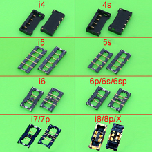 цена на Genuine Battery Connector Socket For iphone 4 4s 5 5s 6 7 8 plus X Inner Connector Panel Battery Holder Clip Mianboard Repair