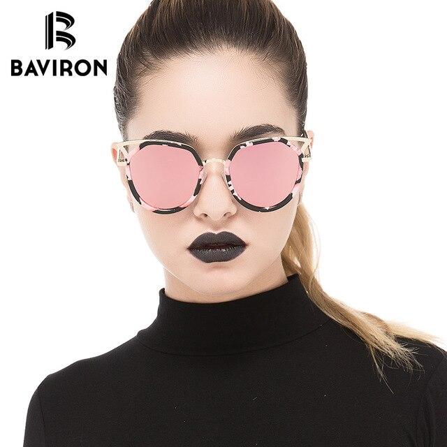 f13897c3027 BAVIRON 2018 Vintage Cat Eye Sunglasses Women Polarized Luxury Brand Design  Fashion Metal Frame Sun Glasses for Women Men Oculos
