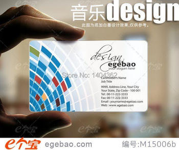 Customized business card printing Plastic transparent /White ink PVC Business Card one faced printing 500 Pcs/lot NO.2195
