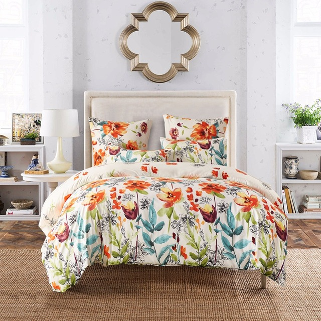 Nordic Design Jacquard Bedding Set Bedclothes Fashion Flower Duvet Cover Sets US Size Comfortable Bed Linen Set