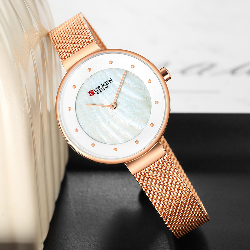 CURREN Small Women Watches Top Brand Luxury Bracelet Ladies Watch Rose Gold Watches Women Fashion Watch 2019 Luxury Stainless(China)