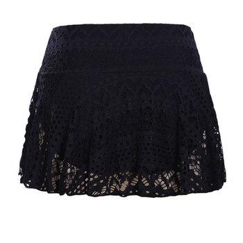 Summer Skirt Women Lace Crochet Floral Skirted Solid Bottom Swimsuit Short Skort Beach Swim Skirt Womens 2019 New 2
