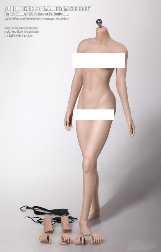 1/6 Scale Female Body Figure Narrow Shoulder Super Flexible Seamless Body White Color Medium Breast DIY Doll Toys 1 6 scale figure doll plastic model seamless body with metal skeleton female samurai tomoe 12 action figure collectible figure