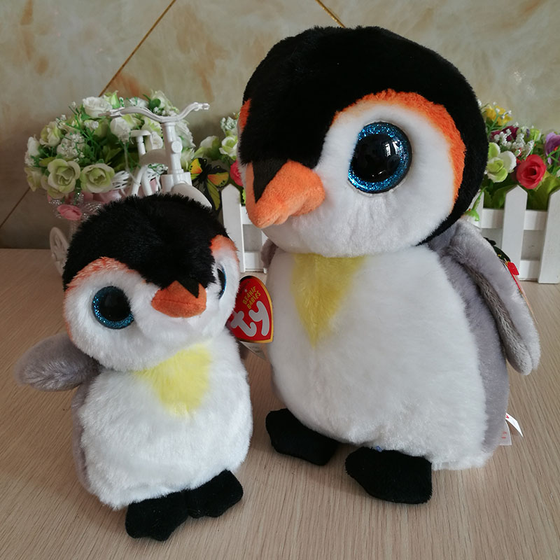 db7d68f2540 2 pcs pongo penguin 15cm and 25cm 10 inch Ty beanie boos classic Plush Toy  Stuffed Animal Soft Kids Toy Christmas Gift Hot Sale -in Stuffed   Plush  Animals ...