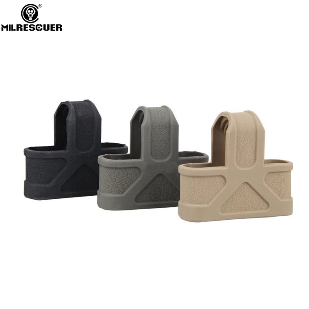MILRESCUER 10 Pcs / 5.56 NATO Cage Fast Mag Magazine Belt Holder For Airsoft M4/16 Hunting Accessories