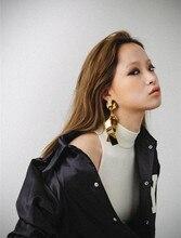 Baroque Cross Metal Exaggerated Earrings Large Long Nightclub bohemian  drop jewelry