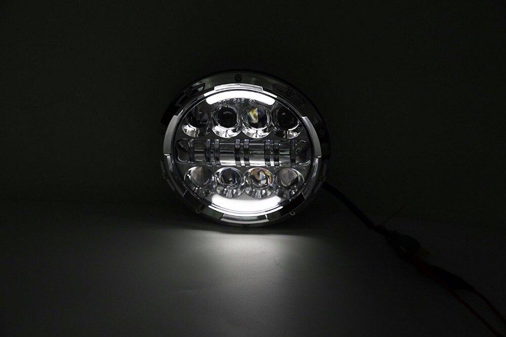 Novi! 2PCS 7-inčna prednja svjetla motocikla HI / Lo kratka svjetla - Svjetla automobila - Foto 4