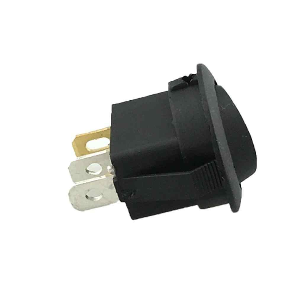 12V รอบ Rocker Dot เรือไฟ LED สีแดงเปิด/ปิดสวิทช์รถ/เรือ/ATV Upturned thumb switch Professional อะไหล่ #719