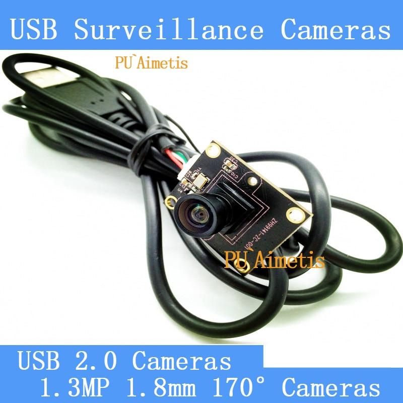 PU Aimetis Surveillance cameras 720P HD 170 degree wide viewing angle USB2 0 camera module