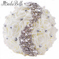 2016 Swarovski Crystal Wedding Bouquets Beaded Bridesmaid Buques Artificial Casamento Rhinestone Bouquet Bride Flowers