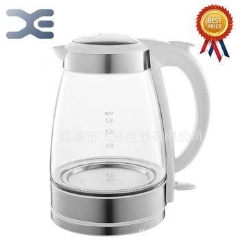 1.7л чайник для воды стеклянный ручной мгновенный нагрев Электрический чайник для воды автоматическая защита от отключения питания проводн...