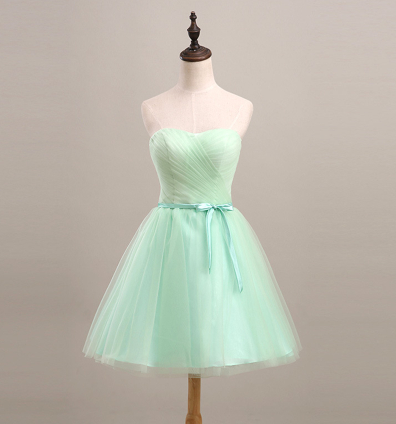 Short Bridesmaid Dress Mint Green 2017 Elegant Ball Gown ...