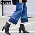 2017 Popular Women European and American Retro Gradient High Waisted Wide Leg Jeans For Women Nine Straight Legged Trousers