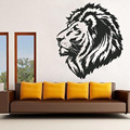 Lion Head Animal Pattern Sticker Poster PVC Wall Decals DIY Living Room Decoration Black Wall Stickers Home Decor