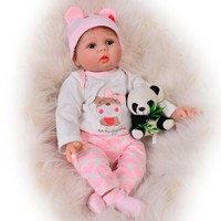 KEIUMI Newborn Reborn Baby Dolls Silicone Cute Soft Babies Doll For Girls Kids Bebe Reborn Dolls With Magnetic Pacifier 55cm