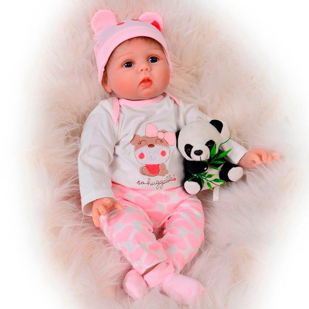 KEIUMI nouveau né Reborn bébé poupées Silicone mignon doux bébés poupée pour filles enfants Bebe Reborn poupées avec sucette magnétique 55 cm-in Poupées from Jeux et loisirs    1
