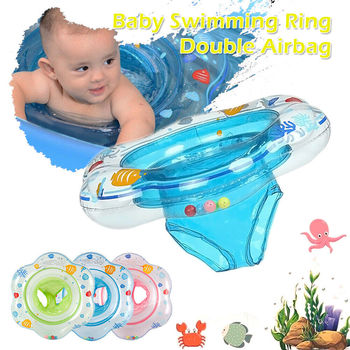Safety Swimming Ring Baby Accessories Toddler Swim Pool Loating Safety Inflatable Aid Trainer Children Bathing Double Raft Rings