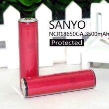 4 pcs . . 2015 novo Sanyo original NCR18650GA 18650 3500 mAh bateria de lítio 3A proteção para descarga contínua