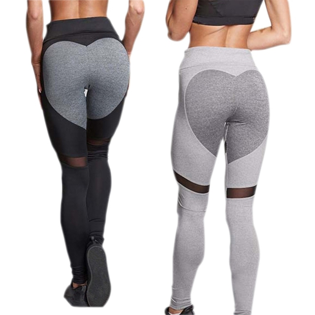 Multi Color Stitching Yoga Pants Quick Dry Workout