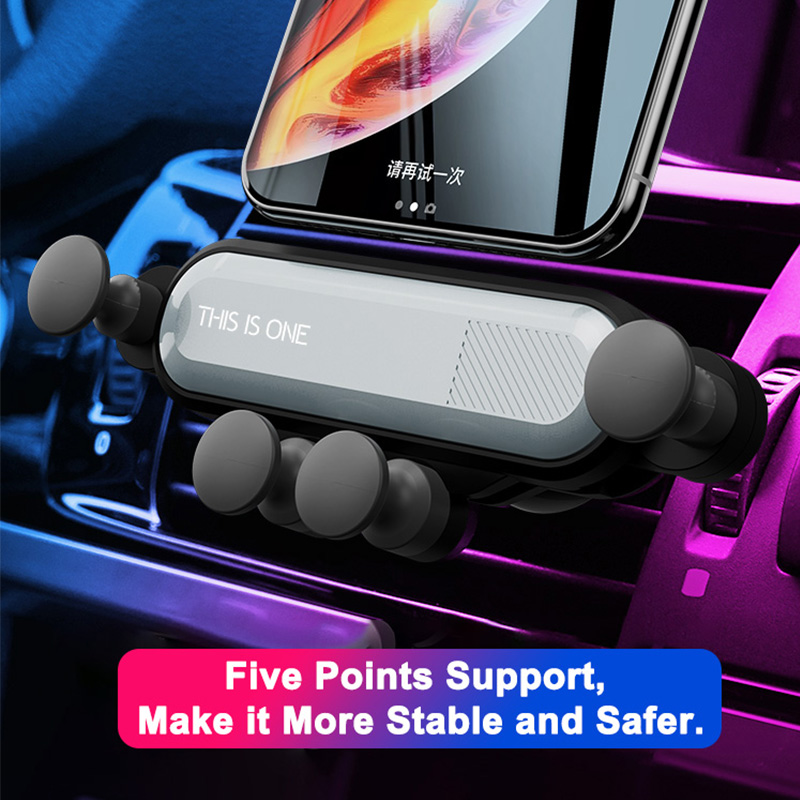 Car vent mobile phone holder universal automatic grip creative gravity induction car GPS bracket car phone stabilizer snap on-in Universal Car Bracket from Automobiles & Motorcycles