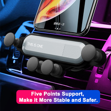 Car vent mobile phone holder universal automatic grip creative gravity induction car GPS bracket car phone stabilizer snap on