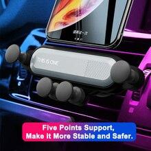 Soporte universal para teléfono móvil de ventilación de coche, agarre automático, soporte creativo de GPS para coche por inducción de gravedad, estabilizador de teléfono de coche a presión