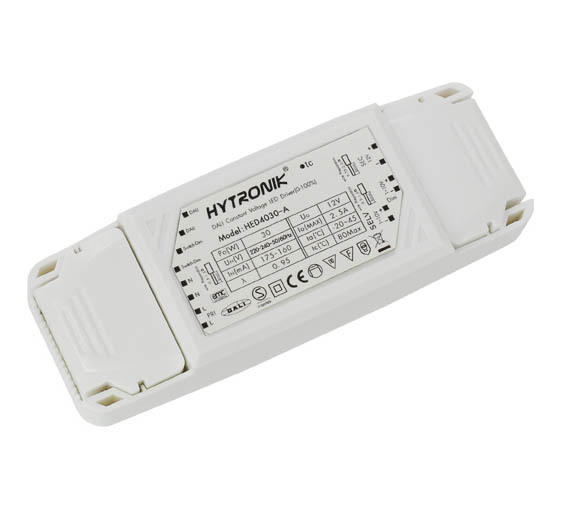 Ld1230 12v dc 1-30w constant voltage led driver, ip20 rated 30w.