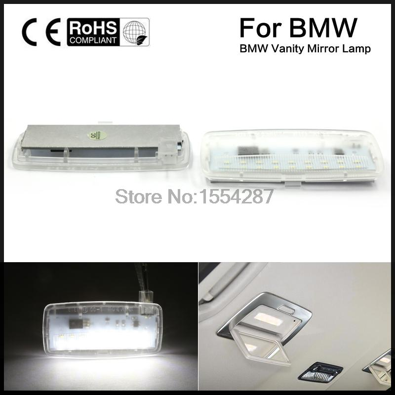 2pcs Error Free LED SMD vanity mirror visor light For Bmw E93 E93LCI E88 Rolls Royce RR2 ...