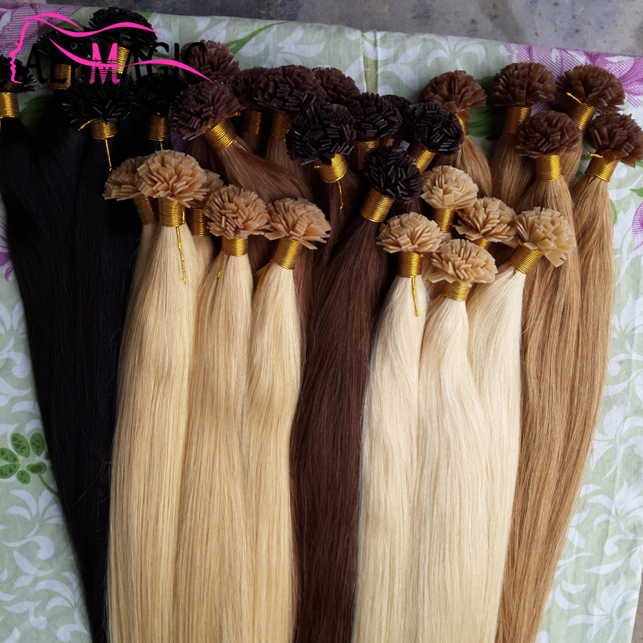 Keratin Hair Extension Fusion Hair Extensions Flat Tip Hair Pre