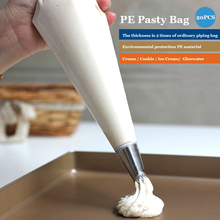 20pcs Disposable PE PASTRY BAG cake Decorating Piping Icing Bags Set - Larger 16 Inch