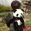 Candice guo! bonito dos desenhos animados mochilas de pelúcia simulação boneca panda sacos de doces do bebê crianças presente de aniversário 1 pc