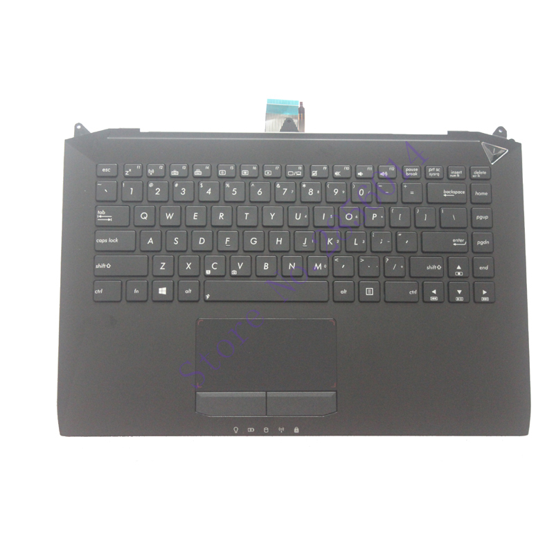 US Laptop Keyboard For ASUS G46 G46V G46VW English black With backlight notebook keyboard Palmrest laptop keyboard for clevo m550 black without frame with trackpoint u s english international ui mp 030834u 4309l