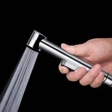 Туалет ручной Биде опрыскиватель Shattaf ткань пеленки опрыскиватель ABS полированный хром душевая головка L15