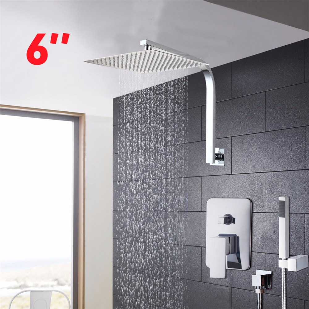 YANKSMART Bathroom Leading ultra thin panel Shower Faucets Solid ...