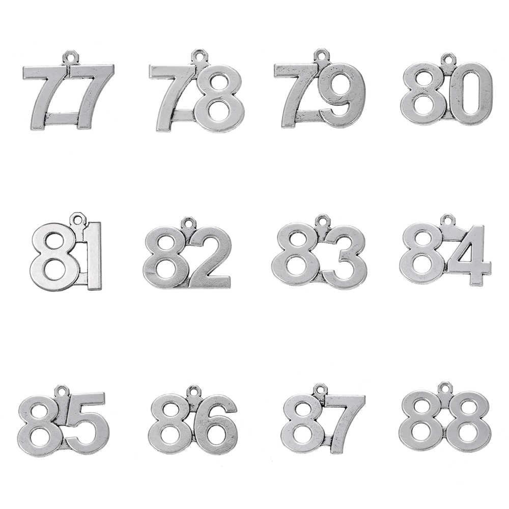 """Skyrim 20 штук 77-88 античные с серебристым покрытием номер """"сделай сам"""" для изготовления ювелирных изделий Браслет/Цепочки и ожерелья 77 78 79 80 81 82 83 84 85 86 87 88"""