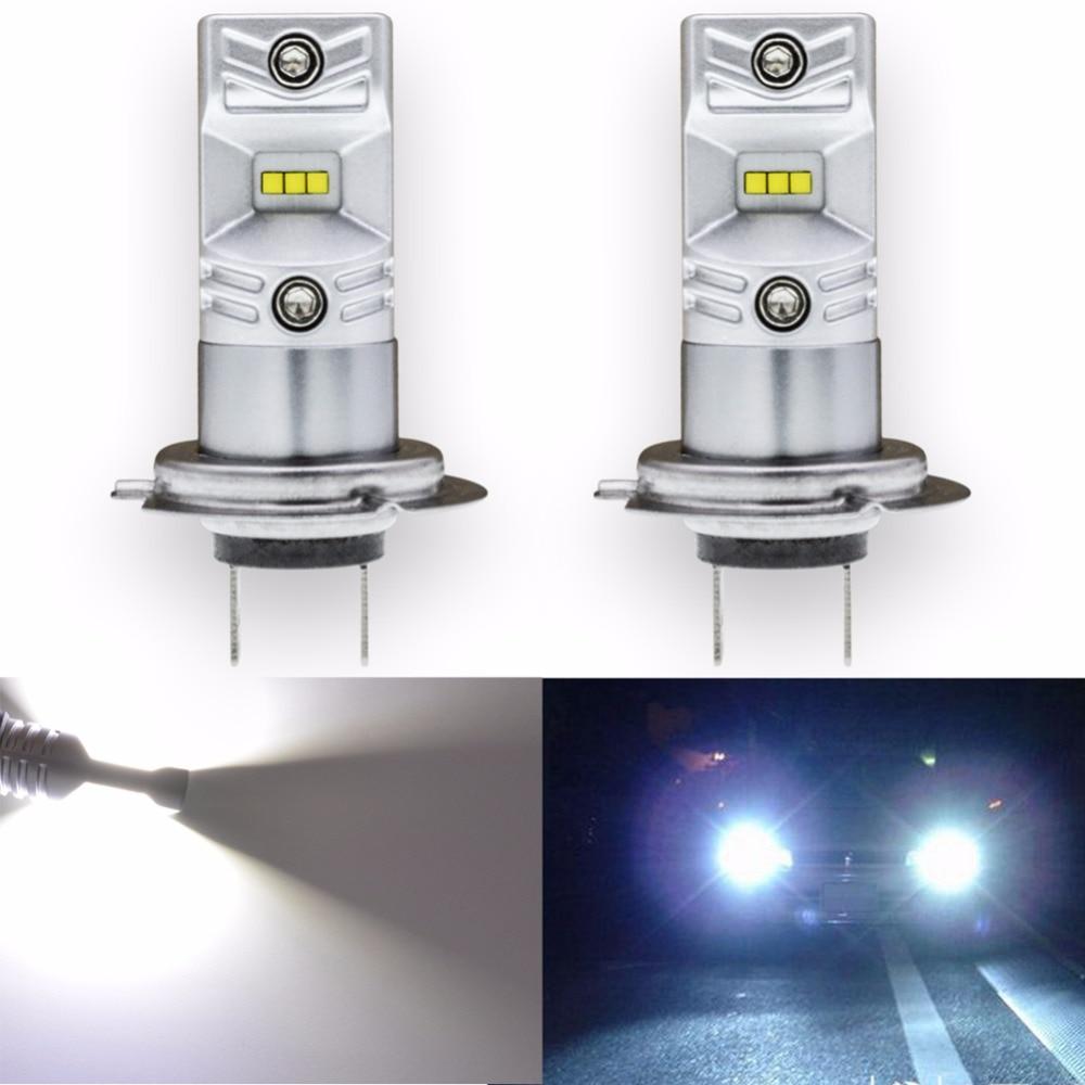 Katur 2x de alta calidad H7 luz antiniebla de LED de coche de conducción de impermeable 1000LM 80 W CSP de niebla Led lámpara de luz bombilla conjunto