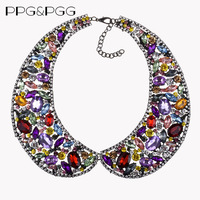 PPG&PGG Handmade Multicolor Rhinestone Collar Necklace Choker Bib Necklace Jewelry Wholesale Dropshipping