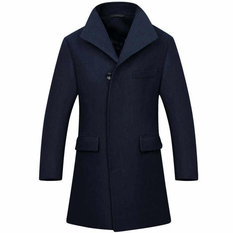オーダーメイドウール長い男ロングトレンチコートウールコート冬ピーコート男性のウールコートメンズオーバーコート男性のコート男性服