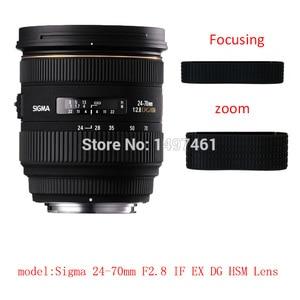 Image 2 - Lens Zoom or focus Rubber Ring  / Rubber Grip Repair Succedaneum For Sigma 24 70mm F2.8 IF EX DG HSM lens